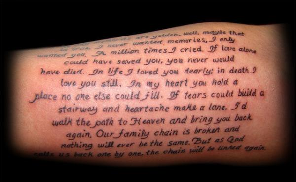 69 Stylish Letter Tattoos -DesignBump
