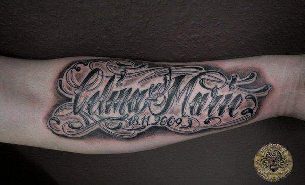 c0dd082b078e9 69 Stylish Letter Tattoos -DesignBump