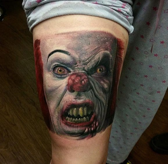 36 Creepiest Clown Tattoos Designbump Follower growth for joshua gomez • tattoo artist. 36 creepiest clown tattoos designbump