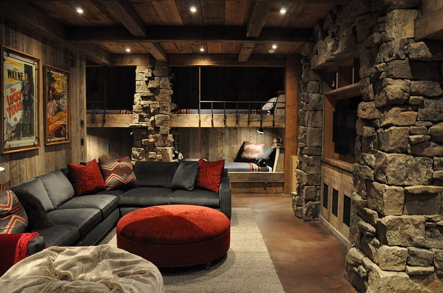 rustic and stone