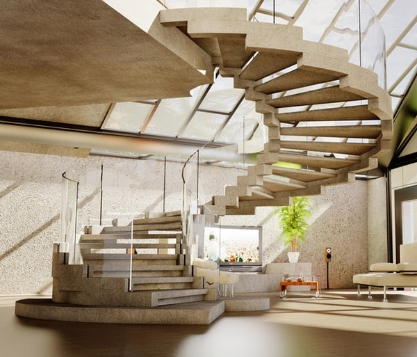Creative Staircase Design Ideas: 23 Most Creative Spiral Staircase Designs -DesignBump