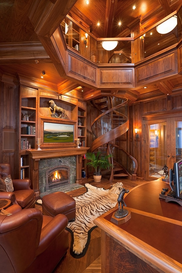 Living Room Designs Pinterest: 23 Most Creative Spiral Staircase Designs -DesignBump