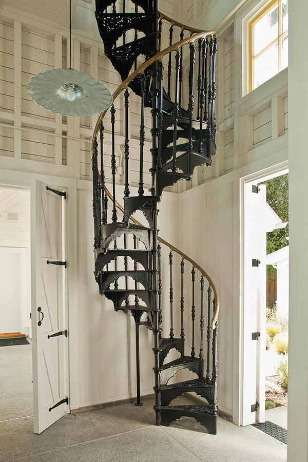 Small Space Living: 23 Most Creative Spiral Staircase Designs -DesignBump