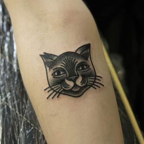 40 Adorable Cute Cat Tattoos And Designs