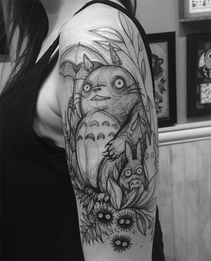 Animal pencil sketch tattoos