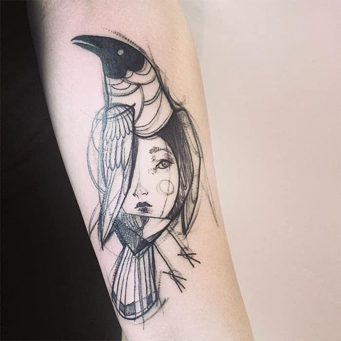 The bird with a face