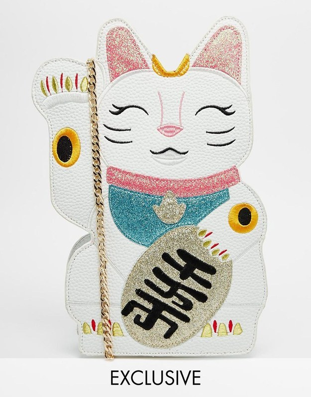 Velvet Cat-shaped Bag