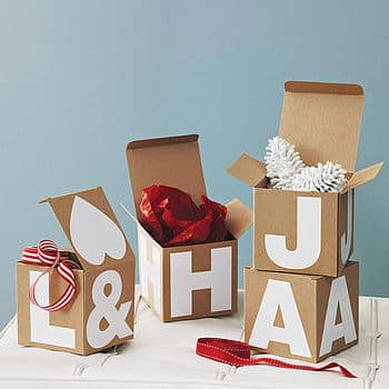 Try Making Alphabet Gift Boxes