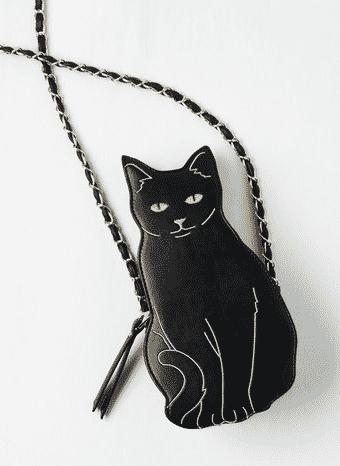 Kooky Cat Orb Clutch Bag