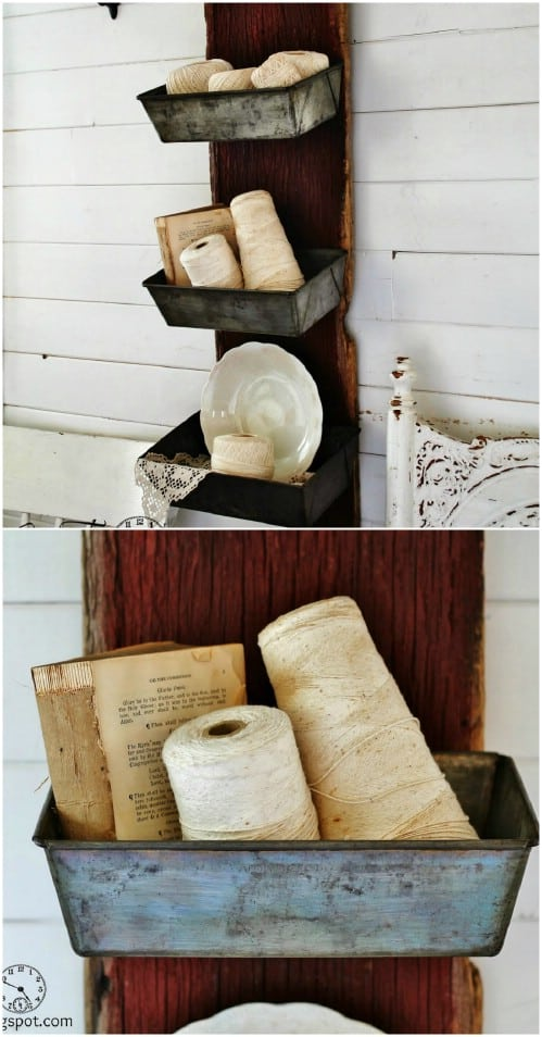 Decorative Rustic Storage Projects For Your Bathroom: 50 DIY Rustic Decorative Storage Ideas -DesignBump