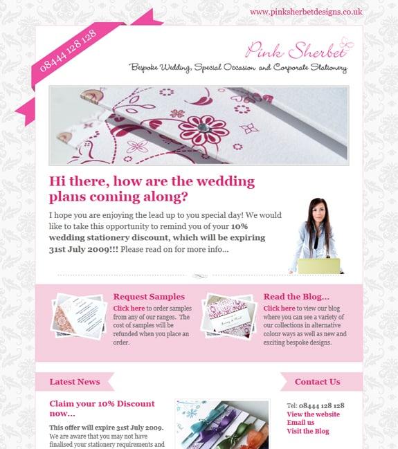 Pink Newsletter Design