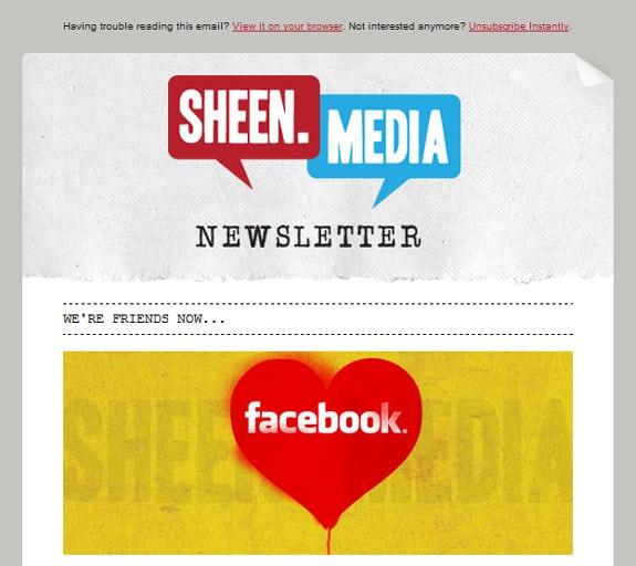 Social Newsletter Design