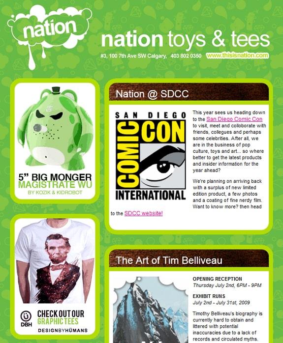 Green Newsletter Design