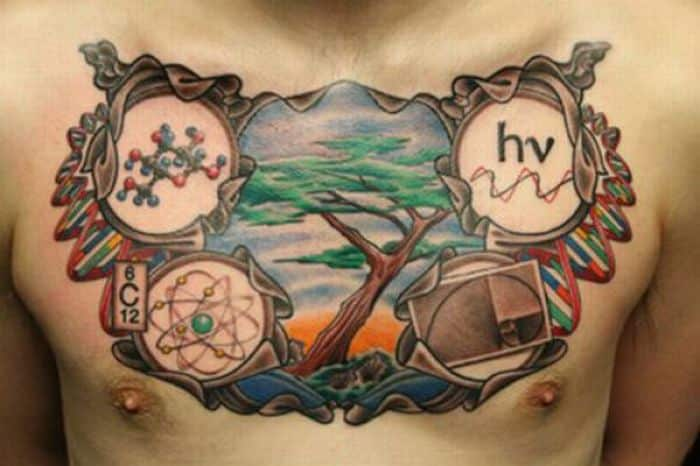 science chest tattoos
