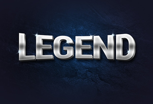 Legend Free 3D Metal Text Effect