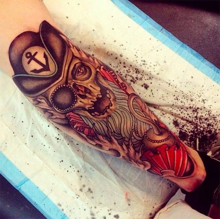Amazing pirate tattoo designs.