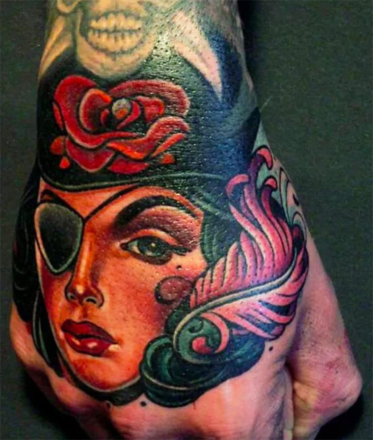 Pirate Fist tattoo