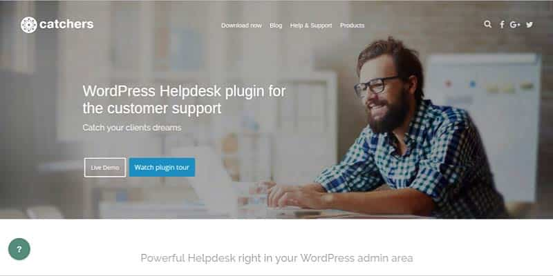 Catchers HelpDesk WordPress Plugin