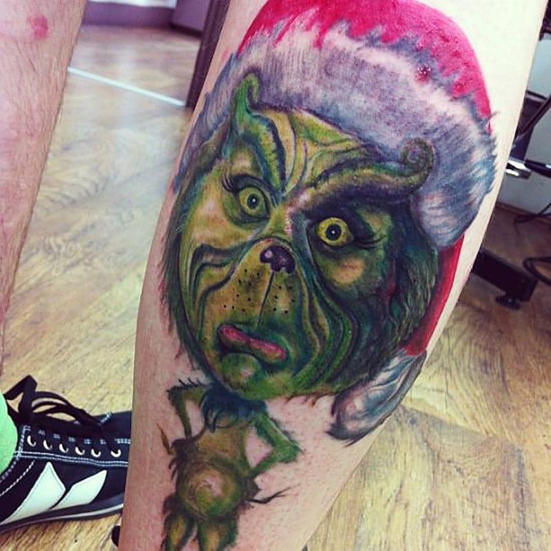 Grinch Tattoo Design