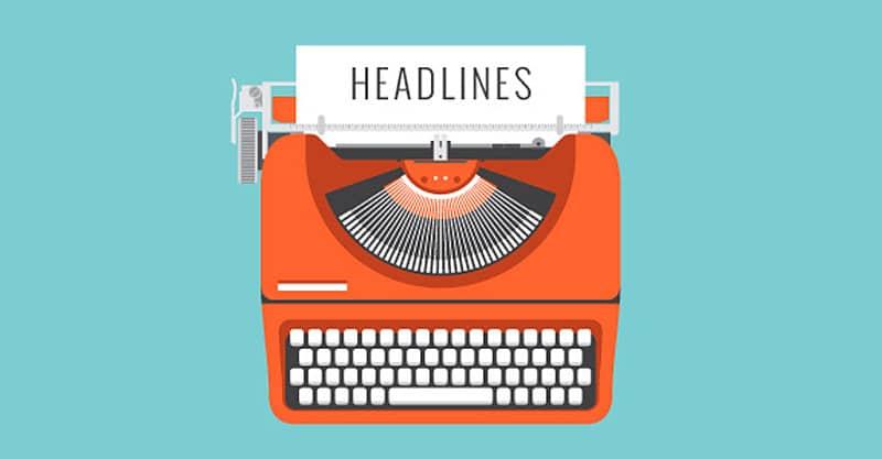 Common types of headline