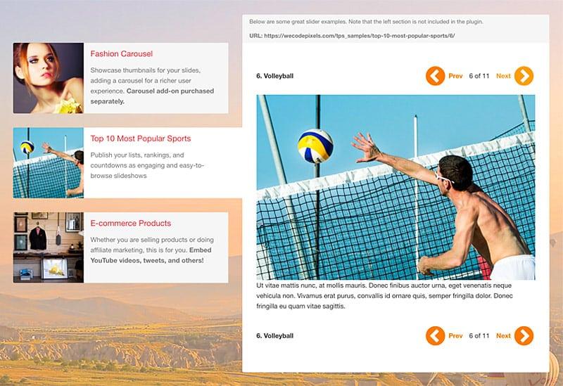 Theia WordPress Plugin Feature List