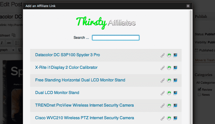 Manage Affiliate Links With Thirsty Affiliates