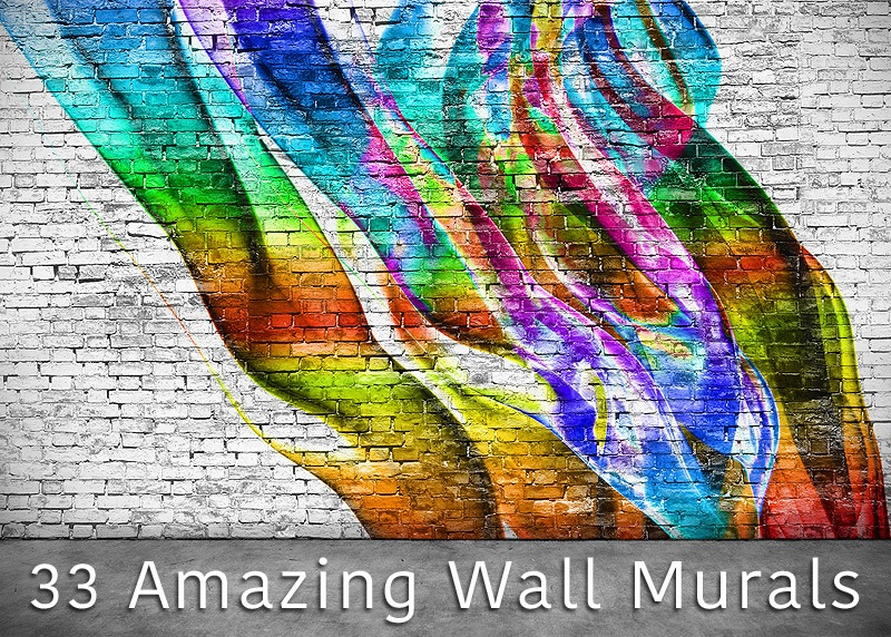33 amazing wall murals