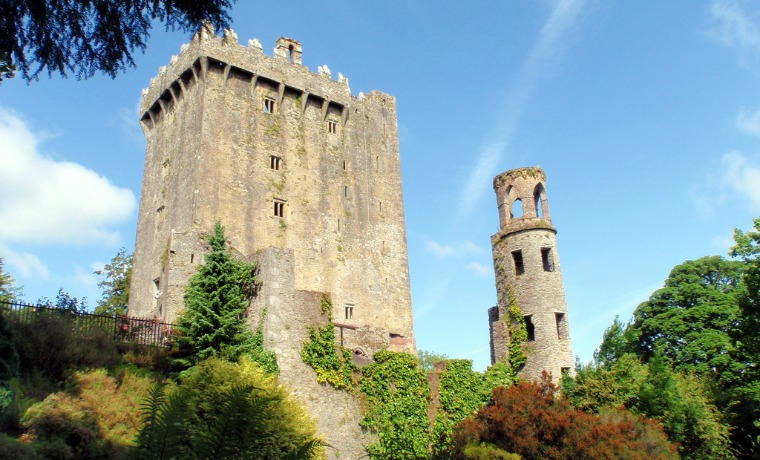 Blarney Castle is a medieval stronghold in Blarney, near Cork, Ireland, and the River Martin.