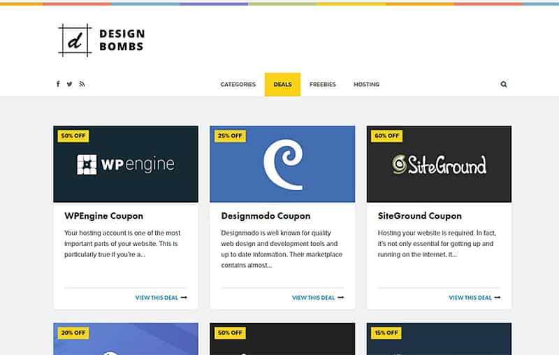 Find awesome design deals at DesignBombs