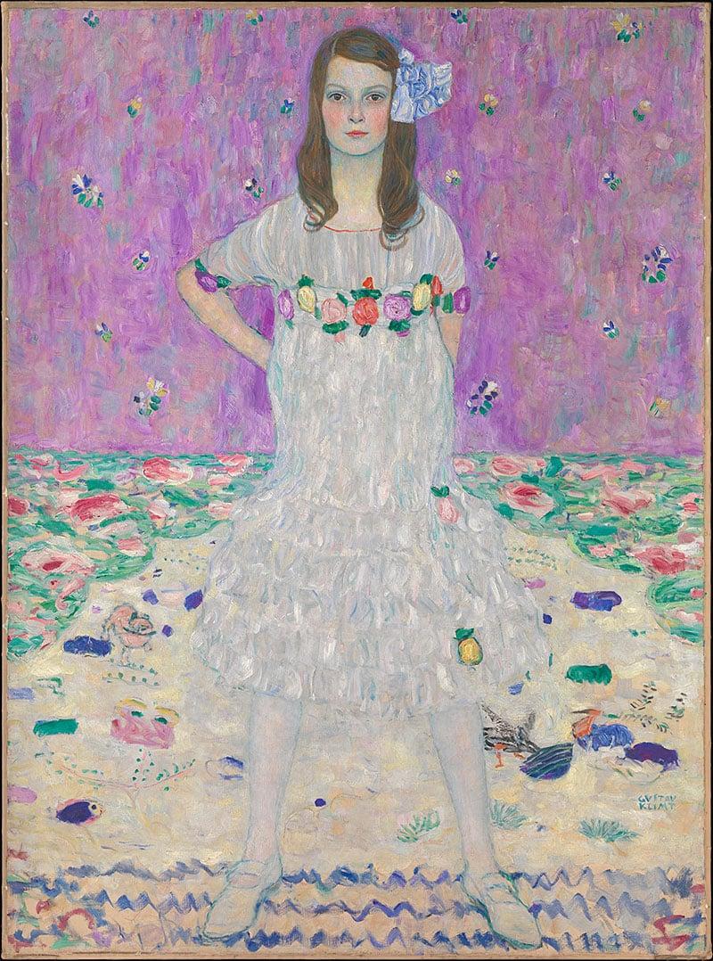 Mäda Primavesi. Gustav Klimt, 1912–13. Oil on canvas.