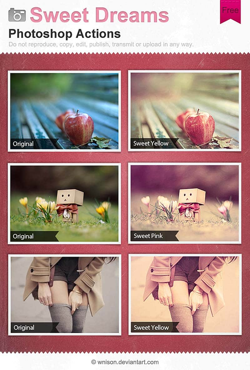 Sweet Dreams Photoshop Actions