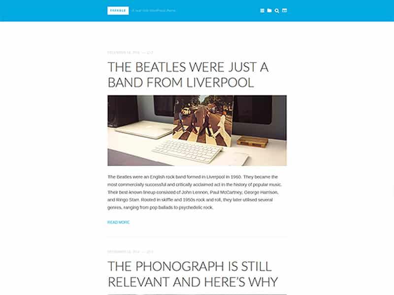 Typable Free WordPress Theme 2017
