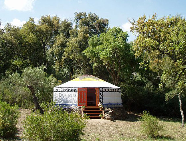 Yurt hotel is the traditional accommodation of the native peoples of Afghanistan and Mongolia.