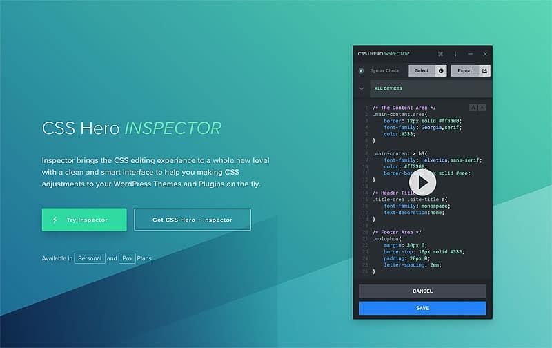 CSS Hero Inspector