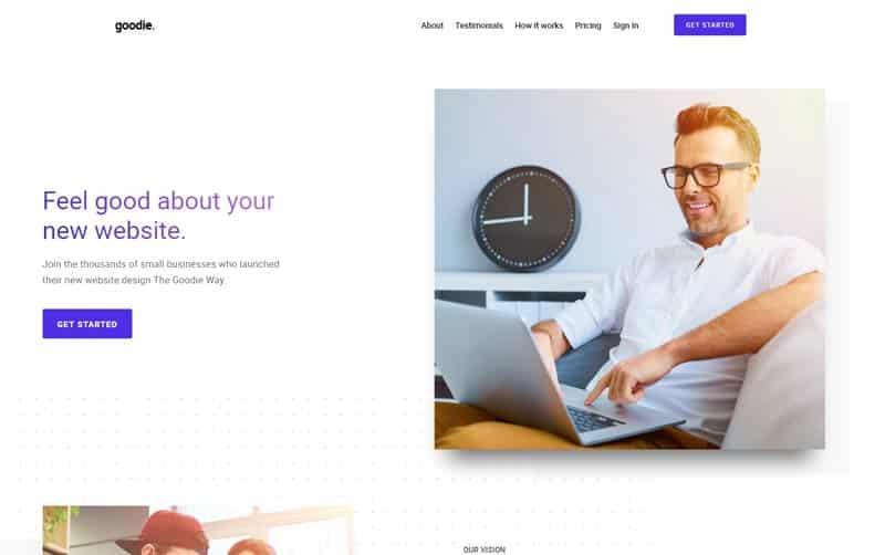Goodie website design