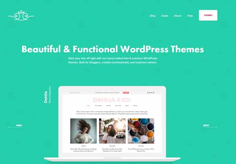 Discover beautiful and functional WordPress themes
