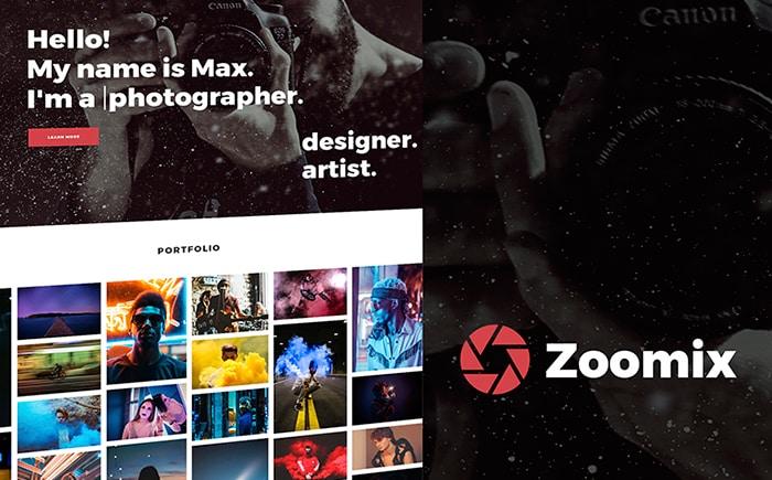 Zoomix Photographers Portfolio Photo Gallery WordPress Theme
