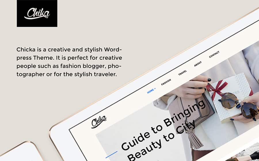 Chika - Creative WordPress Blog Theme WordPress Theme