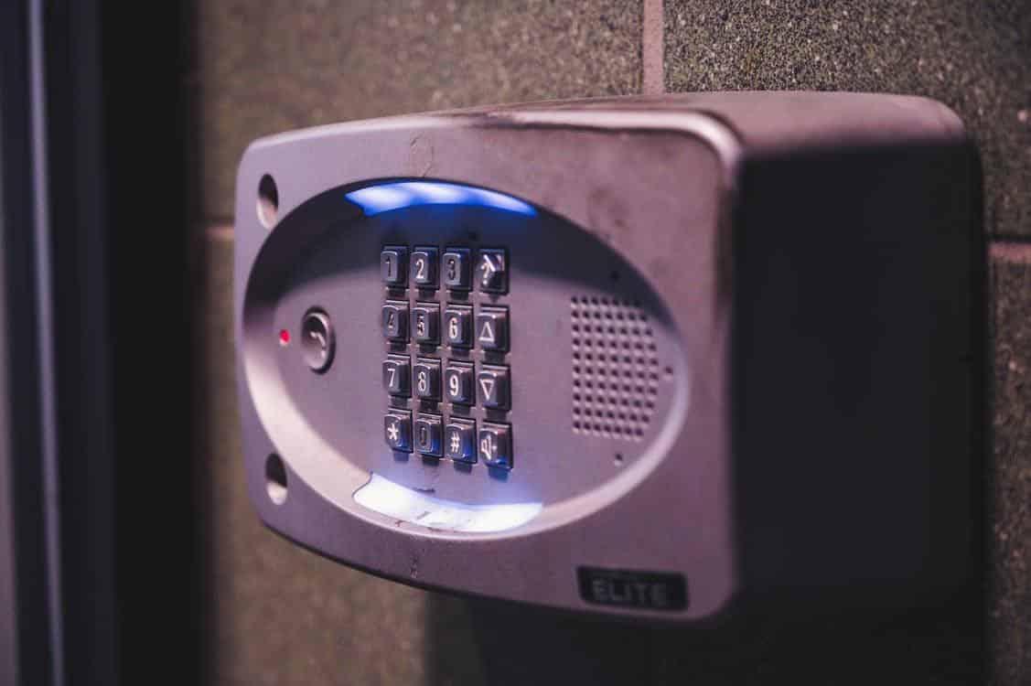 Black Combination Alarm System