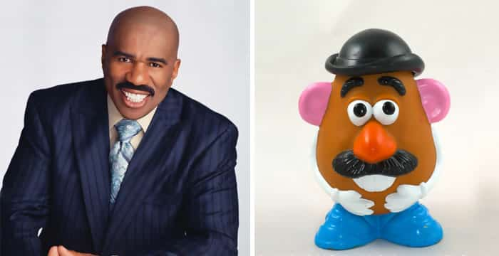 Steve Harvey and Mr. Potato Head