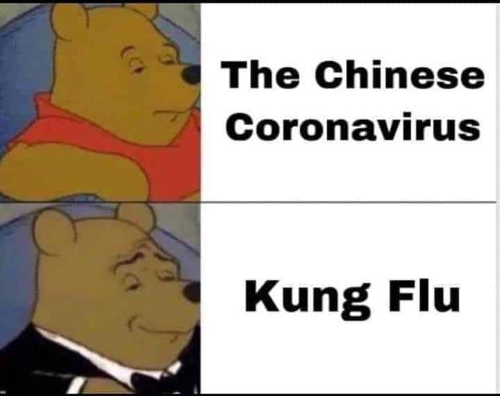 corona virus meme of winnie the poo