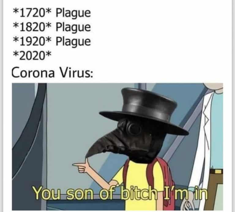 rick and morty coronavirus meme