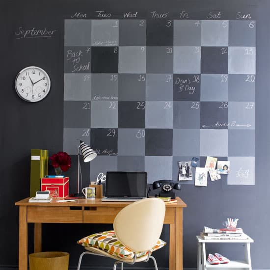 2. The Chalkboard Calendar
