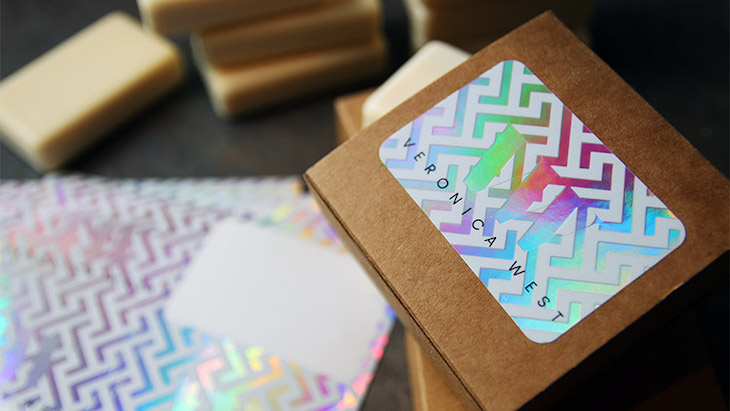 Holographic stickers used on product packaging